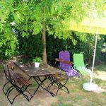 Table ombragée